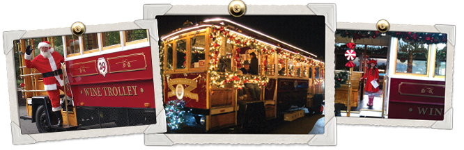 holiday wine trolley tours images